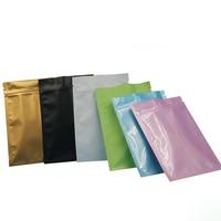 Colorful mate/brillante Bolsa Zip Lock Papel De Aluminio de Fondo Plano/polvo de té bolsas de embalaje de regalo al por menor