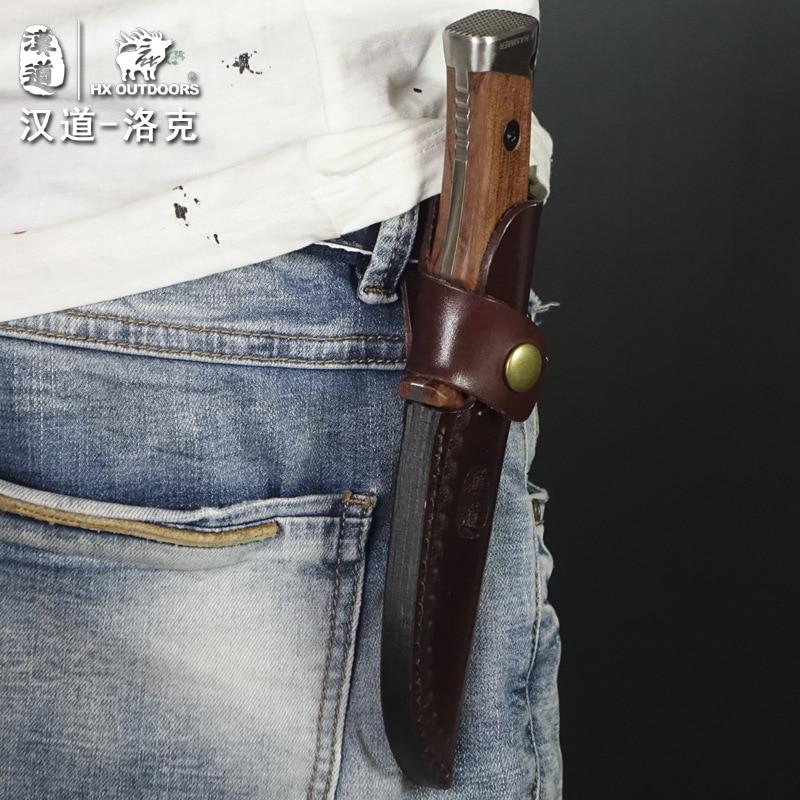 HX OUTDOORS Lok mango de madera táctico de alta dureza cuchillo - Herramientas manuales - foto 4