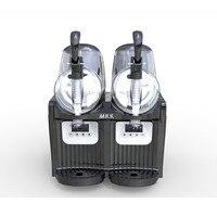 110/220V Commercial Snow Melting Machine 2L*2 Commercial Slush Machine Two Tank Ice Slusher Cold Drink Dispenser Smoothies