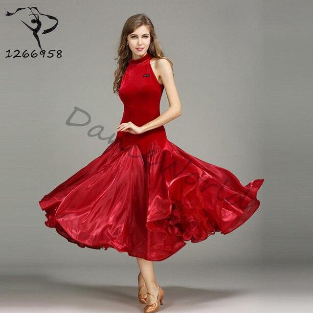 e525c1d8d77a Sexy Nowoczesny Taniec Towarzyski Sukienka Bez Rekawow Sukienki