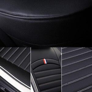 Image 5 - Fundas de asiento delanteras y traseras para coche, de cuero PU, universales, aptas para TOYOTA Corolla RAV4 Highlander PRADO, Yaris Prius Camry Protector para asientos de coche
