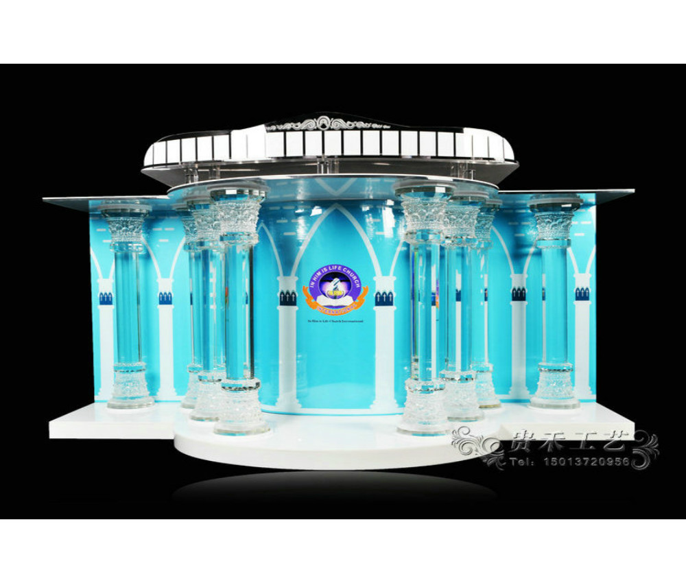 Exquisite Crystal Column Church Pulpit A Magnificent Project Clear Acrylic Plexiglass Lucite Podium Pulpit Lectern