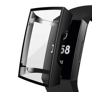 Image 2 - Funda de silicona para Fitbit Charge 3, funda protectora de TPU, accesorios de repuesto