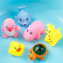 2019 new inflatable swimming pool accessories lovely baby bath cartoon silicone toys water spray beach toys цена и фото