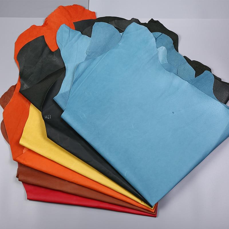 Junetree cuir de porc peau de porc multi couleurs 0.5-0.6mm cuir artificiel pour bricolage sac matériel accessoires de couture 1.4x1.2 m