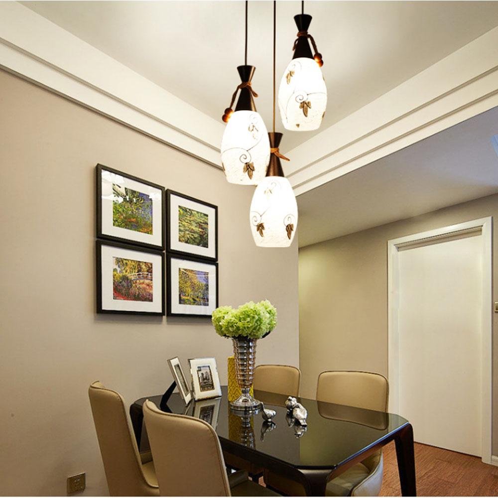 Hghomeart suspendus luminaires en verre pendentif lampe 3 lumières led pendentif lumière moderne pendentif lampes conception