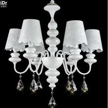 Американский Железный LED классической пастырской ресторан гостиная спальня лампа кристалл лебедь полноценно свет Люстры