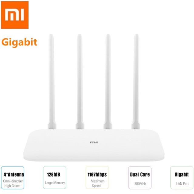 Xiaomi Mi 4A маршрутизатор Gigabit Edition 16 Мб Встроенная память 128 MB DDR3 2,4 ГГц + Wi-Fi 5 ГГц Wi-Fi с высоким коэффициентом усиления 4 антенны приложение дистанционного Управление Поддержка IPv6