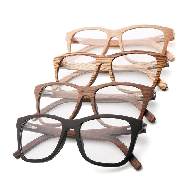 100% Natural Wood eyeglasses Frame for Men Wooden Women Optical Glasses with Clear Lens with case 56342