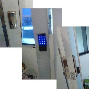 Image 4 - RAYKUBE قفل الباب الالكتروني كلمة السر رمز بلوتوث APP فتح اللمس لوحة المفاتيح التحكم في الوصول قفل لأمن الوطن
