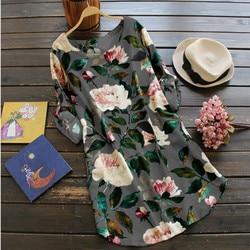 Czeski Boho Sukienka O Neck kwiatowy Print Sukienka z długim rękawem Plus rozmiar Vestidos Mujer Verano 2019 na co dzień Sukienka Lato Xxxl xxxxl 5