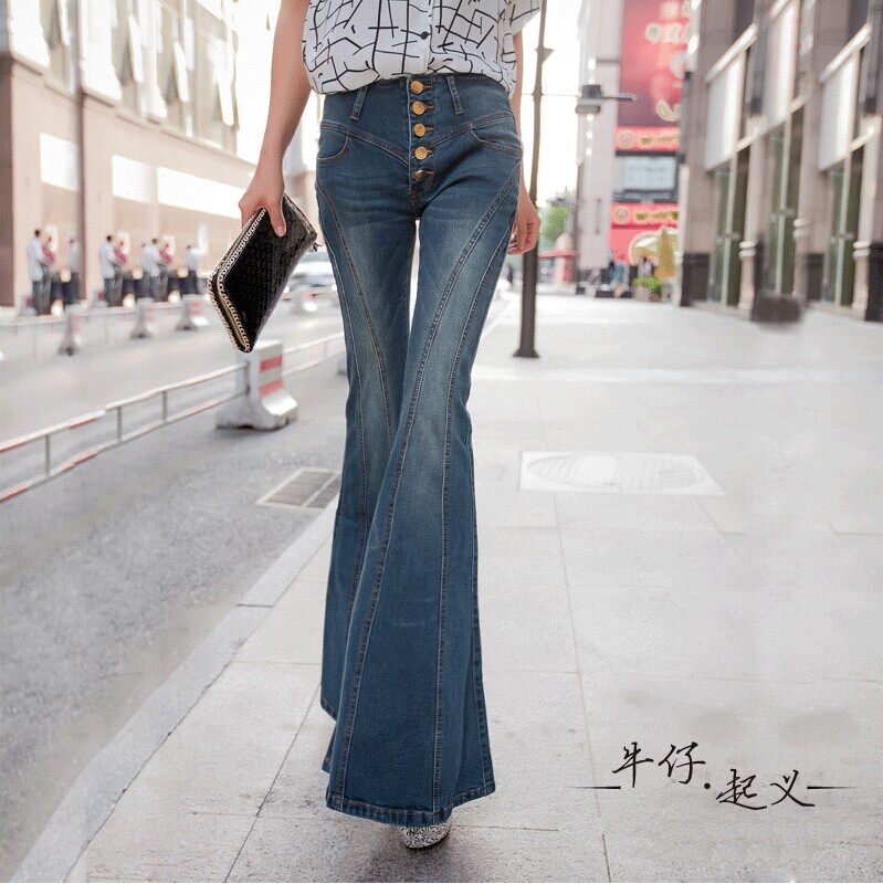 2016 big bell bottoms carry buttock women cultivate one s morality pants pants stretch jeans