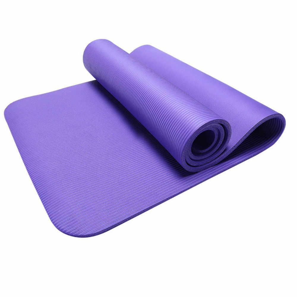 10 Mm Non Slip Tikar Yoga Latihan Latihan Kebugaran Physio Gym Bantal Коврик Для Финтеса Olahraga Kasur Latihan Tikar untuk gym # XB20