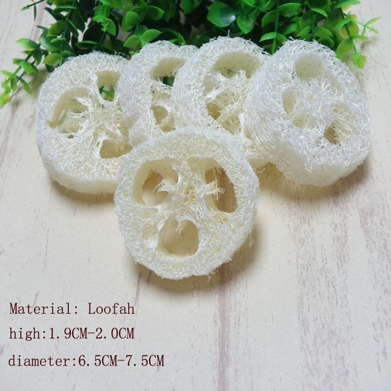 100pcs lotNatural Loofah Luffa Loofa Slices handmade customize Loofah soap tools cleanner sponge facial soap holder