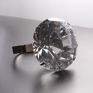Image 3 - Kreative Transparent Großen Kristall Diamant Hochzeit Ornament Prop Zu Geben Freundin Geburtstag Valentinstag Geschenk Home Kunst Handwerk