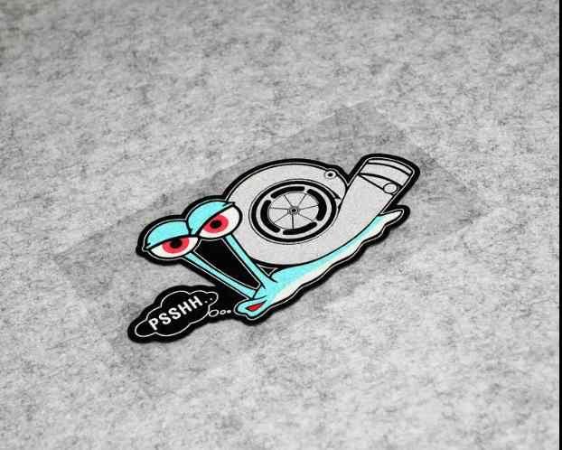 Bonito PSSHH caracol Turbo adesivos de Vinil engraçado motorcross corrida Decalque etiqueta do carro reflexivo acessórios para moto