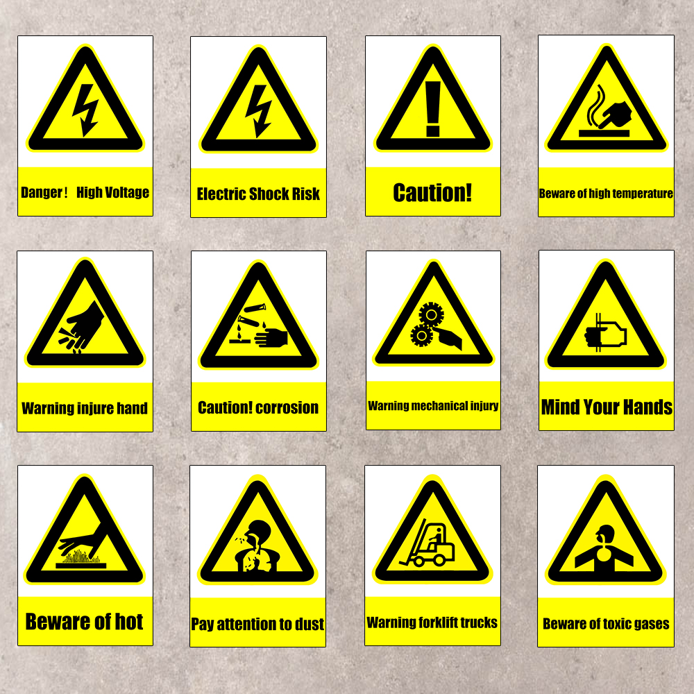 1pc 15x20cm warning safety sign stickers for company schools 1pc 15x20cm warning safety sign stickers for company schools hotels the mall public places mind your hands warning stickers in car stickers from biocorpaavc