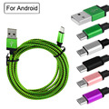 1M 2M 3M Nylon Braided Micro USB Cable Charger Data Sync Charging Cable for Android Samsung Galaxy Sony LG Huawei HTC Xiaomi