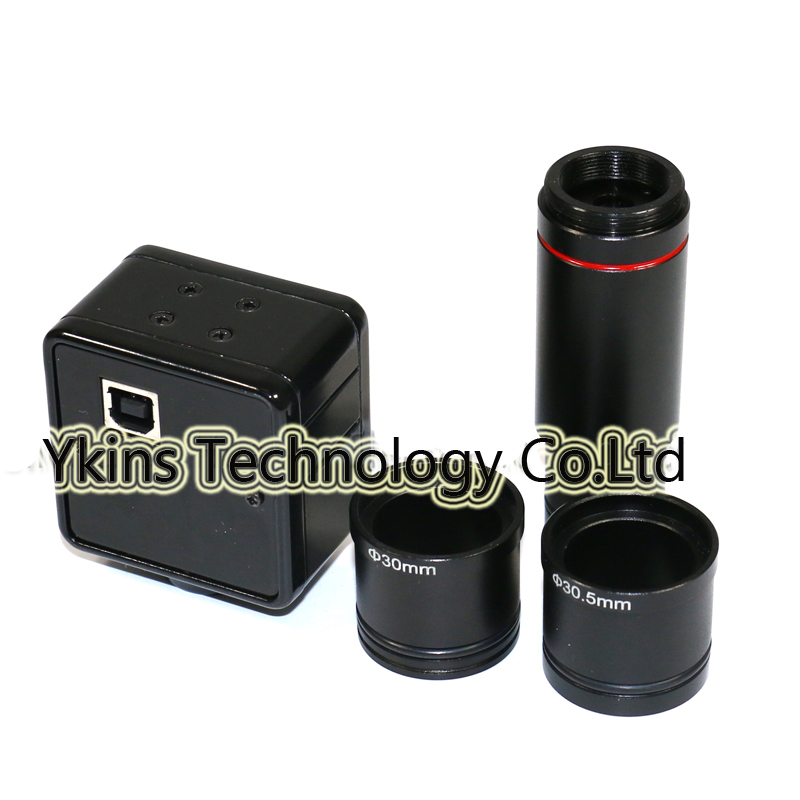 5MP USB digital microscope camera with 23 2mm to 30mm and 30 5mm connect CCD CMOS