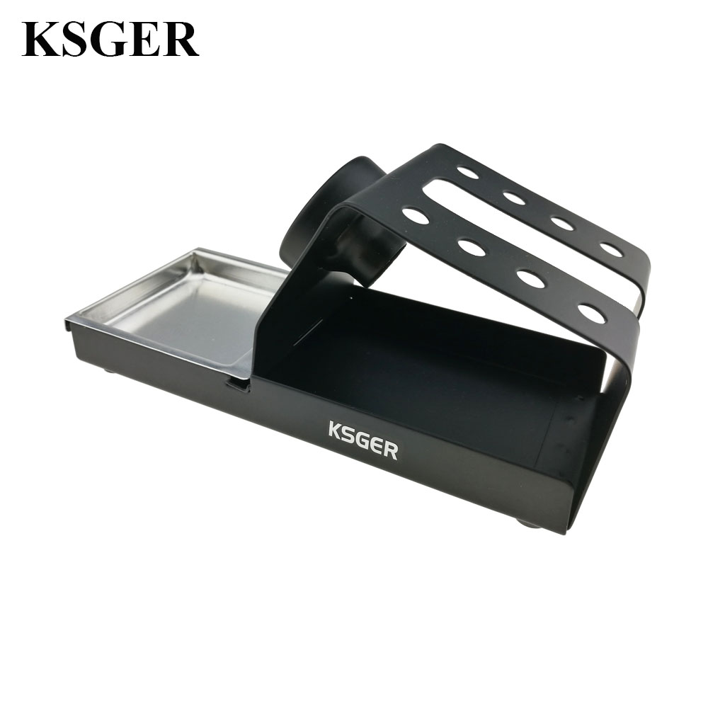 Image 4 - KSGER Soldering Iron Station Stand DIY T12 Holder Welding Iron Tips STC STM32 Metal Handle Aluminum Alloy Tools Repair Phone    - AliExpress