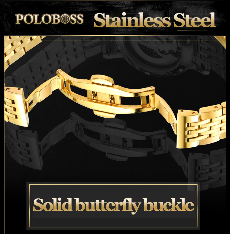 Gold Stainless Mechanical Watches