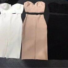 Новинка, сексуальное фабричное платье,, женское,, черный, белый, телесный, без бретелек, 2 предмета, вечернее облегающее платье, вечернее платье, Прямая поставка