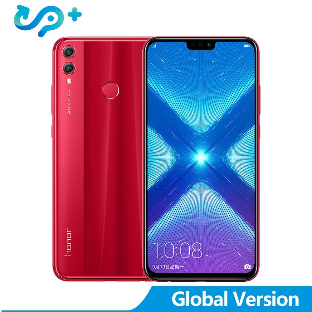 Originale Huawei honor 8X Globale Versione Del Telefono Mobile honor 8X6.5 pollici OTA Aggiornamento LTE Android 8.1 Octa Dual posteriore 20MP Macchina Fotografica