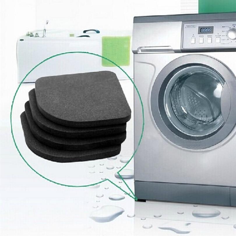 2 Set=8pcs! High Quality Washing Machine Shock Pads Non-slip Mats Refrigerator Anti-vibration Pad,Free Shipping
