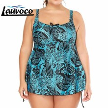 Plus Size Swimwear Two Piece Swimsuit with Shorts Swimming Suit Women Paded Skirt Girls Bathing Suit Fat Large Cup Beachwear girl winter suit 2018 girls winter two piece suit gilrs coat plus velvet with cloak girls skirt pants leopard skirt culottes