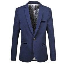 Cloudstyle Новое поступление 2017 года модные Куртки и пиджаки Для мужчин Однобортный Блейзер multicolorl Бизнес Англия Стиль плюс 6XL