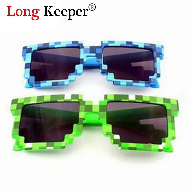 Apparel Accessories Men's Sunglasses Hot Sale Rivet Pixel Glasses Minecrafts Sunglasses Mosaic Party Glasses Pixel Sun Glasses Male Women Luxury Brand Sunglasses Beautiful In Colour