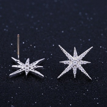 Tiny Trendy 925 Silver classics Star Stud Earrings delicate cubic zirconia geometric small Earrings boucle d'oreille femme 2019 2