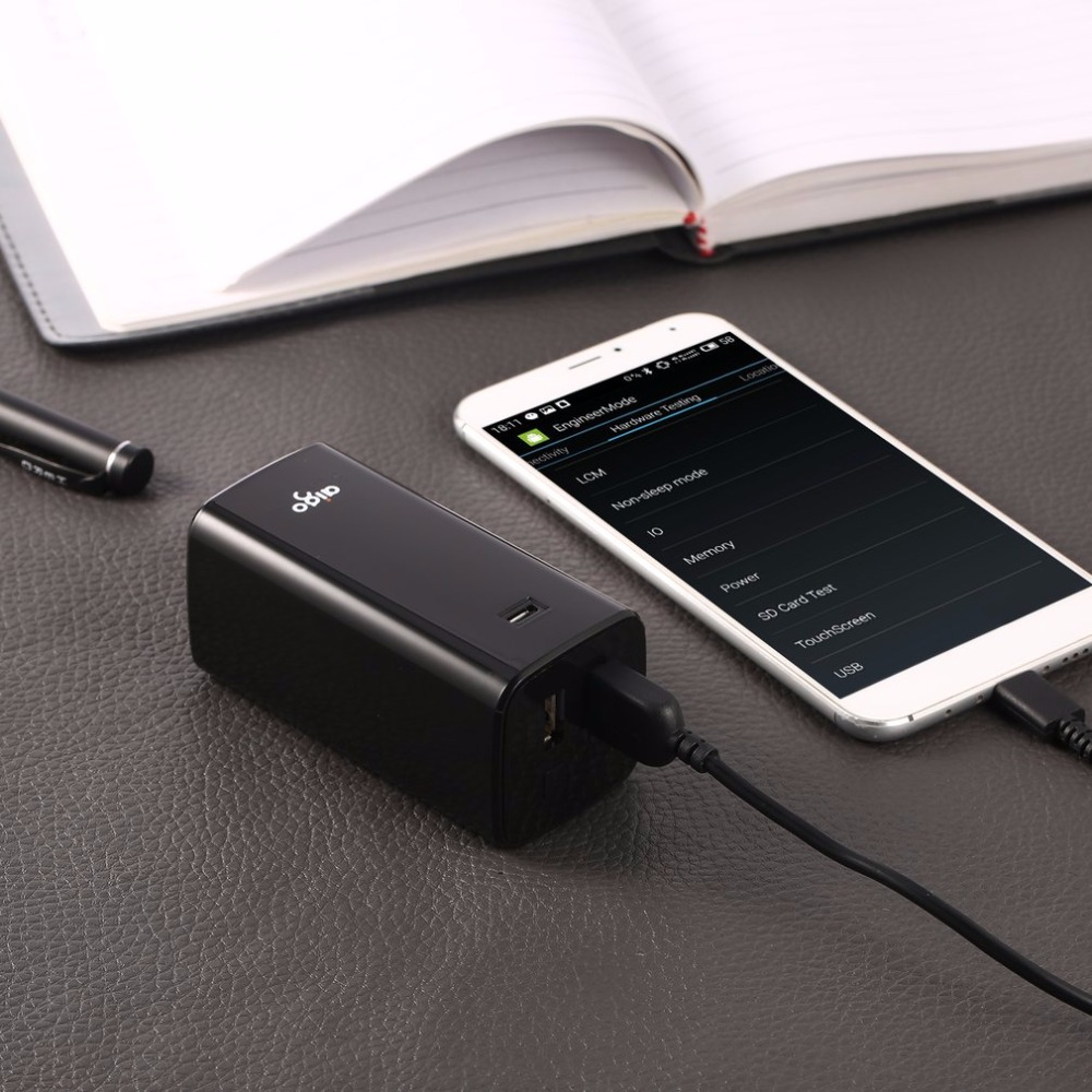 Aigo 8800 mAh Taşınabilir Güç Bankası Şarj Çift USB Çıkışları Yedekleme Harici Akü Akıllı Telefonlar Tablet PC için
