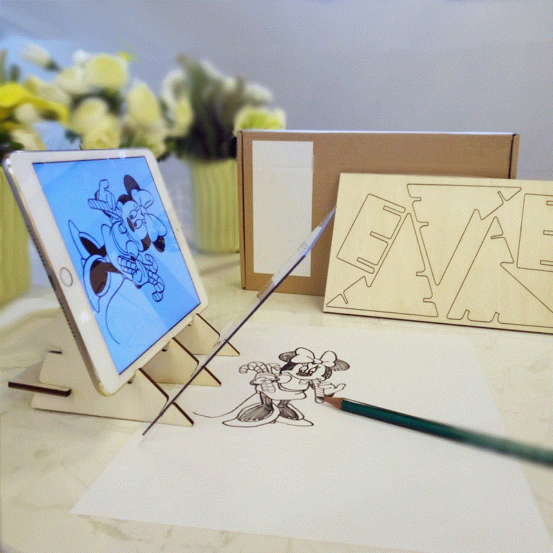 Tracking Projection Optical Drawing Board Sketch Specular Reflection Mobile Phone Dimming Bracket Holder Drawing Mirror Board