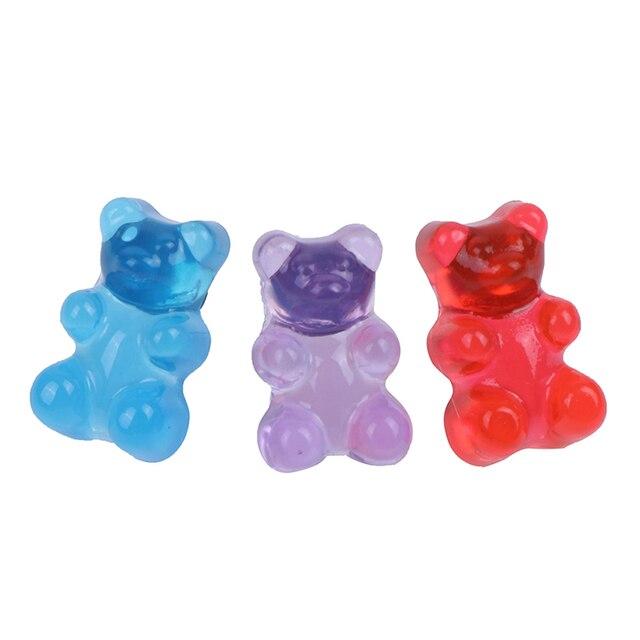 1 paire dessin animé ours boucles doreilles mignon bonbon couleur résine Animal boucle doreille pour femmes filles ami bijoux