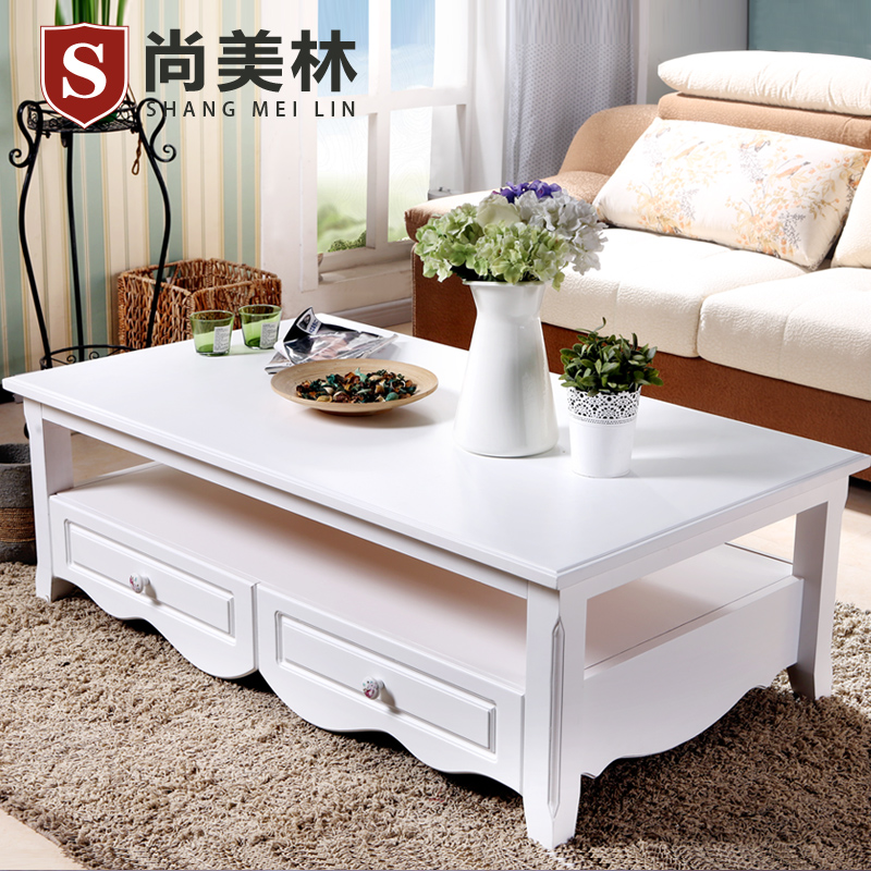 Yet Rounded Square Wood Coffee Table Minimalist Living