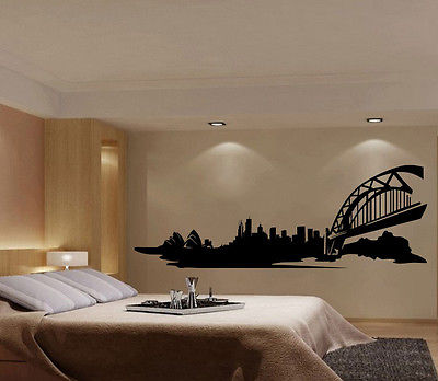 Moderne Sydney Skyline Wandtattoo Wohnkultur Für Wohnzimmer Vinyl Wandbild  Schlafzimmer Küche Kunst Australien Kühlen E552 In Moderne Sydney Skyline  ...