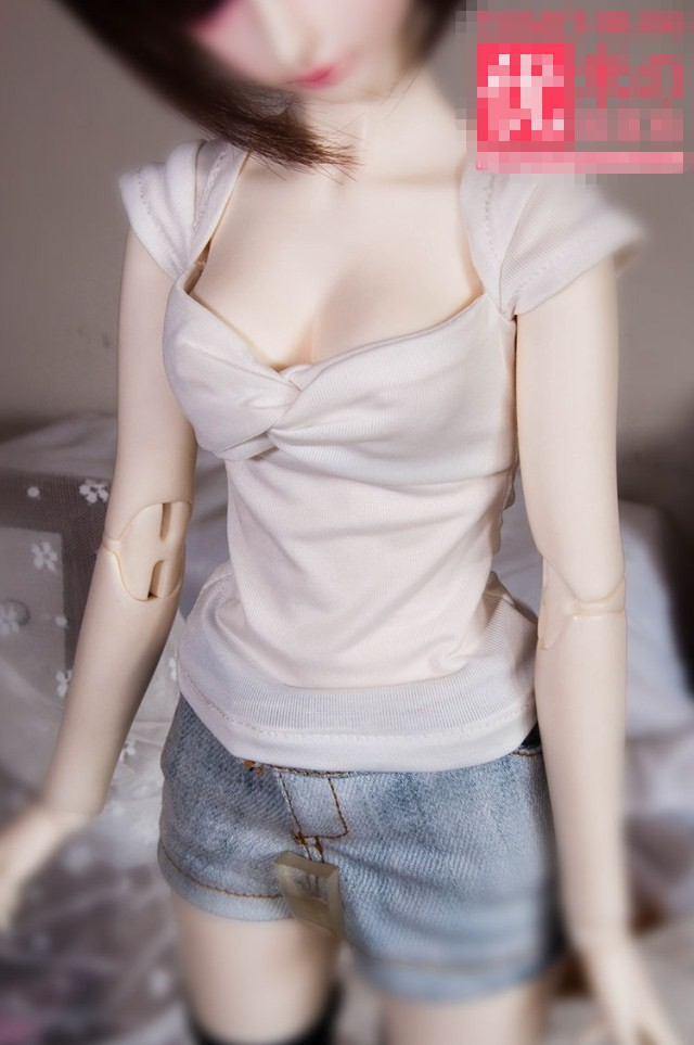 Sexy T-Shirt 3colors for BJD 1/4 MSD, 1/3,SD16, IP EID DD, SD Super Dollfie Doll Clothes Customized CWB27 new bjd doll jeans lace dress for bjd doll 1 6yosd 1 4 msd 1 3 sd10 sd13 sd16 ip eid luts dod sd doll clothes cwb21