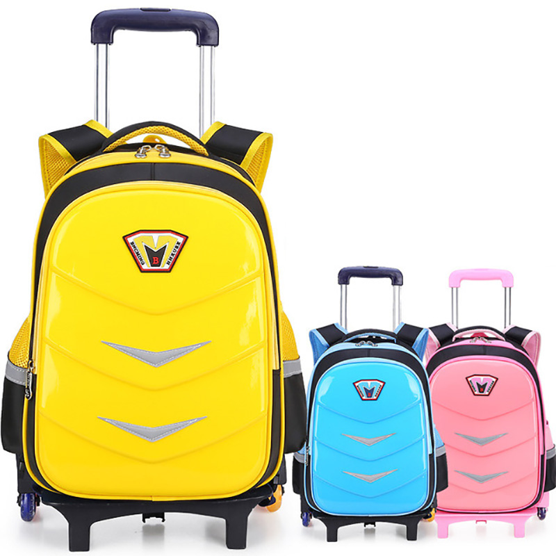 Travel Luggage Bag Wheeled Backpack Children Shool Bag On Wheels Trolley Backpack For School Girls Rolling Bag With Wheels