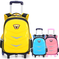 Travel Luggage Bag Wheeled Backpack Children Shool Bag On Wheels Trolley Backpack For School Girls Rolling Bag With Wheels
