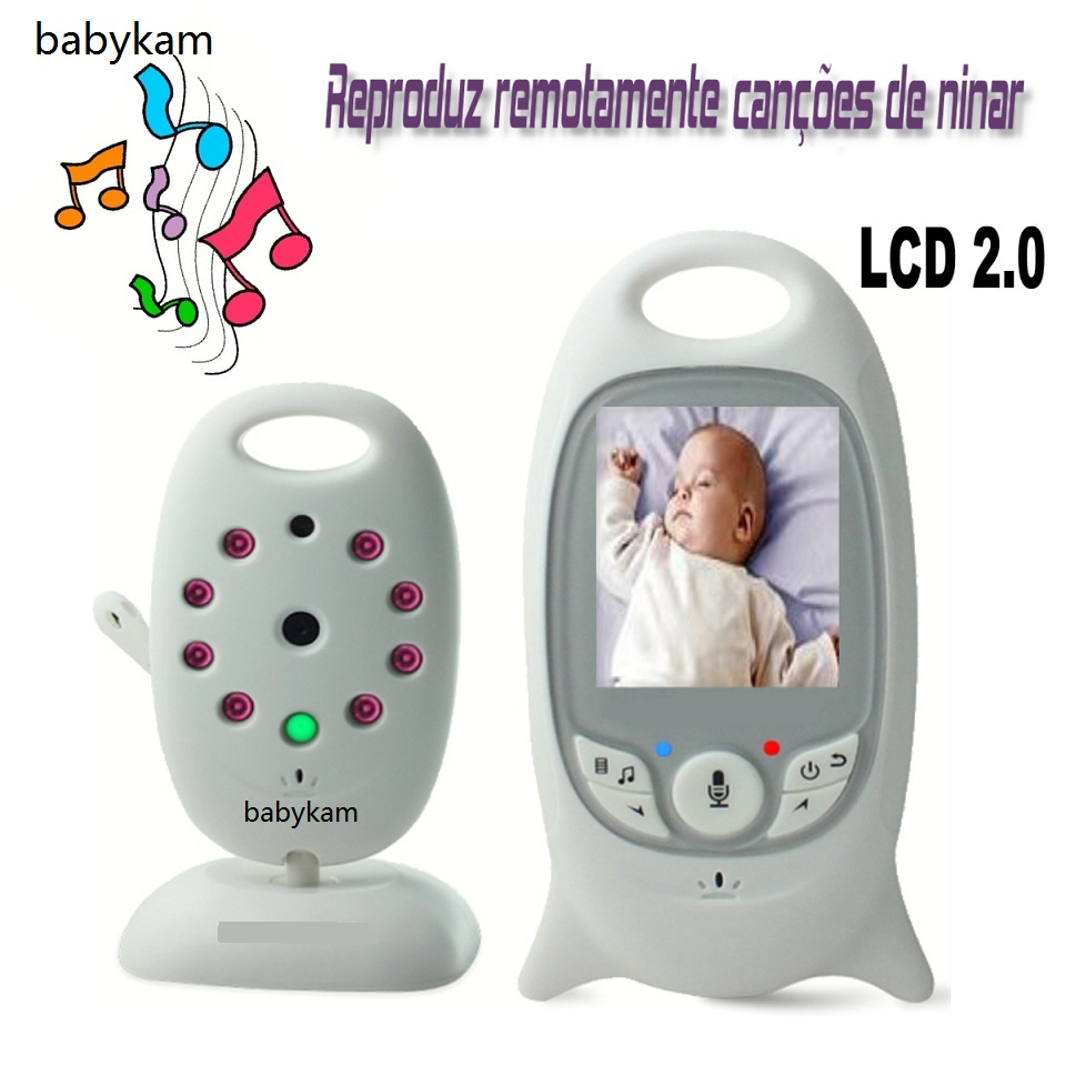 Babykam baba electronics sem fio monitor 2.0 inch LCD Intercom Temperature monitor Lullabies IR Night vision video baby monitor