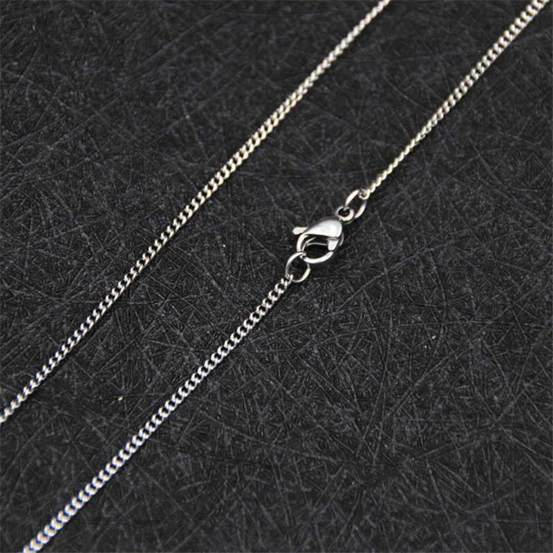 Cheap Promotions 1.9MM Stainless Steel Side Chain Necklace 18-24inches Fashion Gift Jewelry For Woman Fit Pendant drop shpping