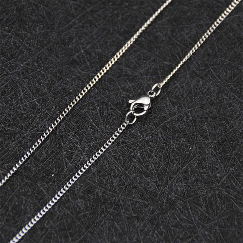 Tanie promocje 1.9 MM ze stali nierdzewnej łańcuch boczny naszyjnik 18-24 cali moda prezent biżuteria dla kobiety Fit wisiorek drop shipping