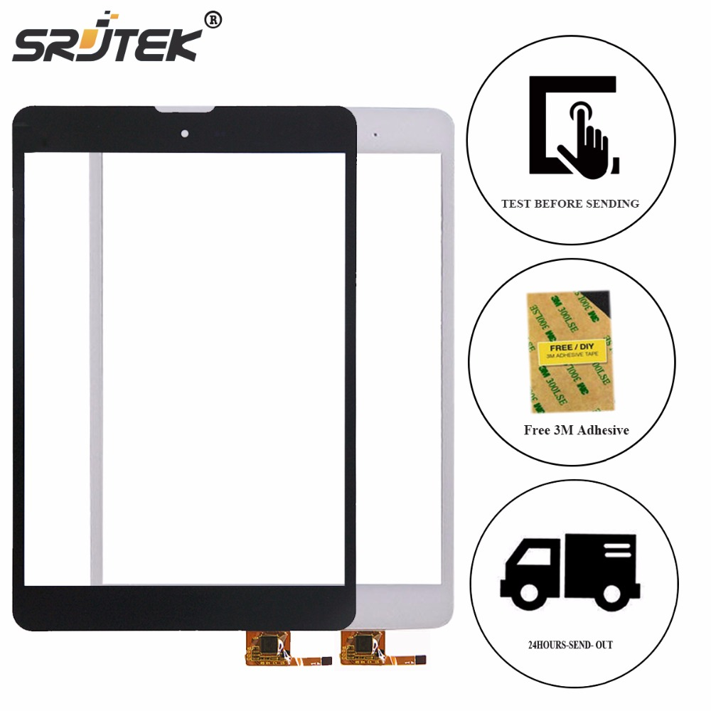 Srjtek 7.85 for Texet TM-7868 3G TM7868 TM 7868 TM-7887 TM-7877 Touch Screen Digitizer Glass Sensor Panel Touchscreen Repair texet navipad tm 7858 3g 16gb titanium