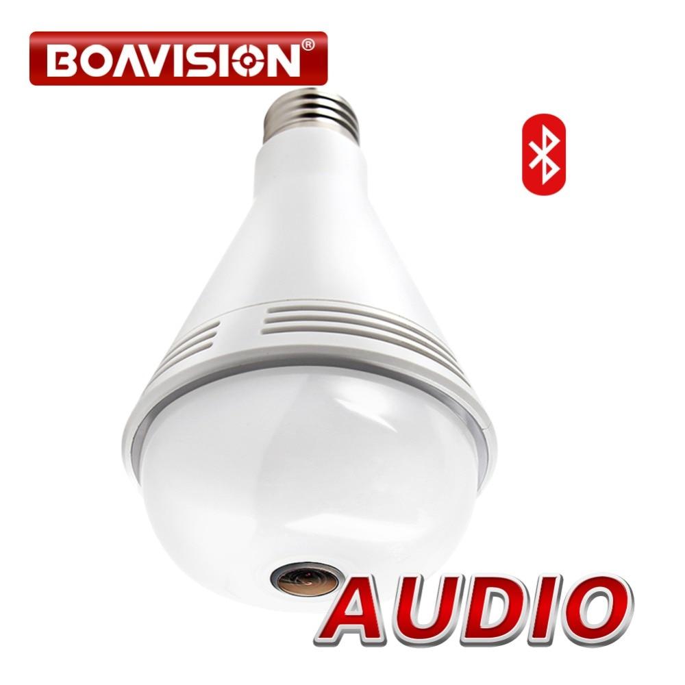 Bluetooth Music Speaker IP font b Camera b font Wi fi FishEye 960P 360 Degrees font