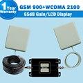 НОВЫЙ ЖК-Дисплей GSM 900 мГц 3 Г 2100 мГц Dual Band Усилитель Сигнала GSM 3 Г Мобильный Телефон Ретрансляторов 65dB мобильной Сотовой Усилитель Антенны