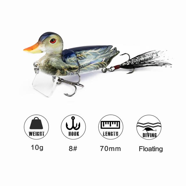 Life Like Floating Duck Swimbait Fishing Lure 7cm