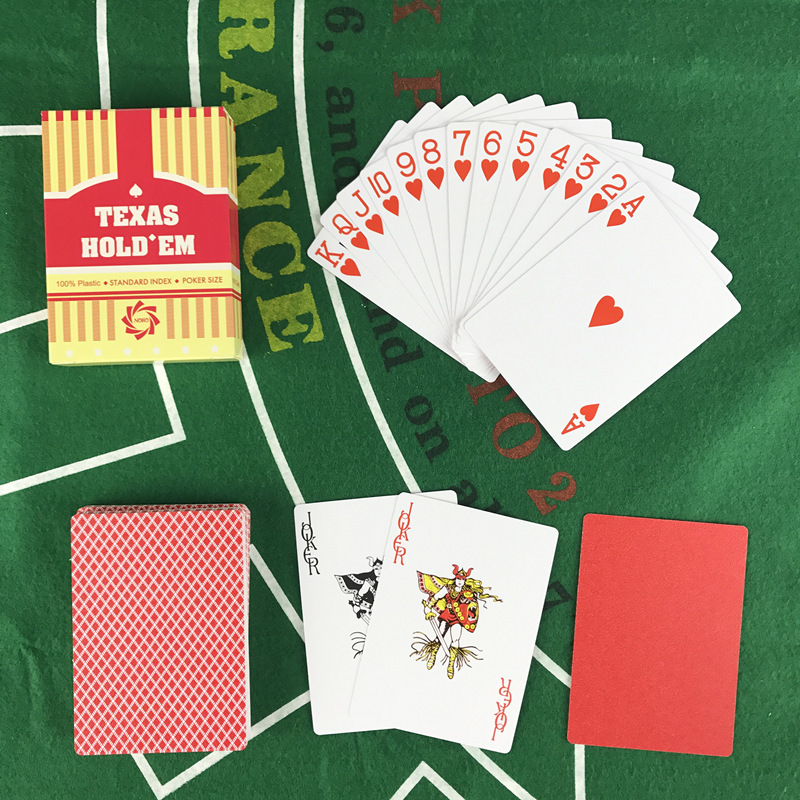 Yernea NEW Baccarat Texas Hold 39 em Playing Cards Plastic Waterproof Frosted Poker Cards Board Games 2 48 3 46 inch Little Letters in Playing Cards from Sports amp Entertainment