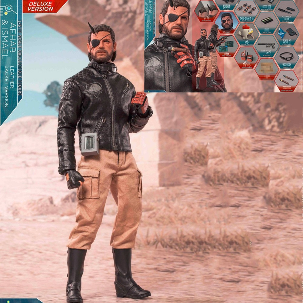 Collectible 1/6th Ismael & Aehab Exclusive Version Male Figure Doll Model Full Set Solid Snake Action Figure for Fans Gift collectible 1 6th ismael