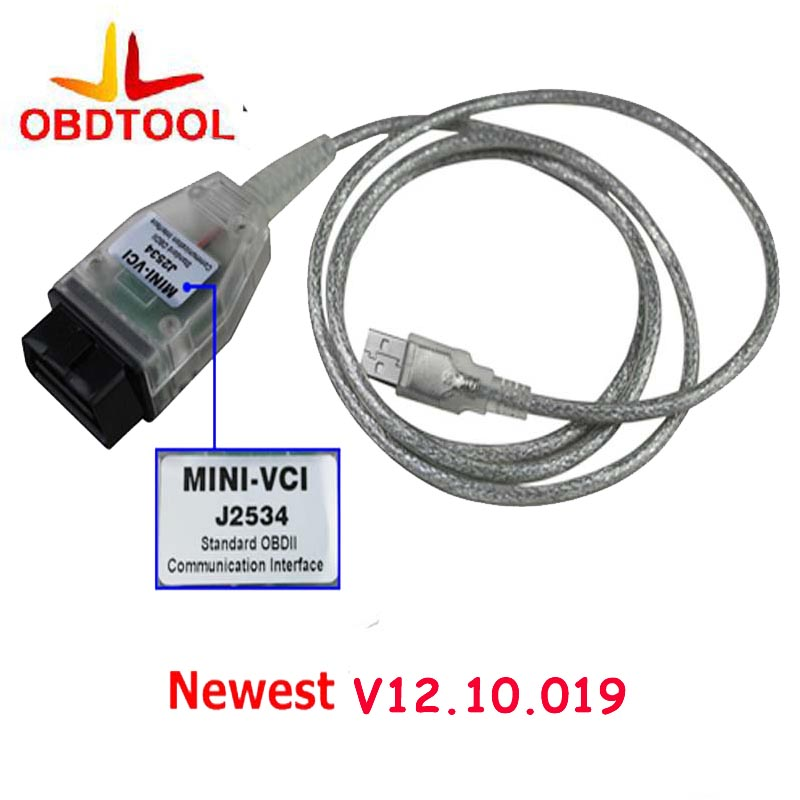 ObdTooL Auto Scanner Mini-VCI J2534 FOR TOYOTA TIS Techstream V13.00.022 Diagnostic Cable MINI VCI Interface Free Ship